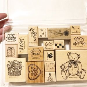 Stampin' Up Retired 1995 Button Bear set of 17